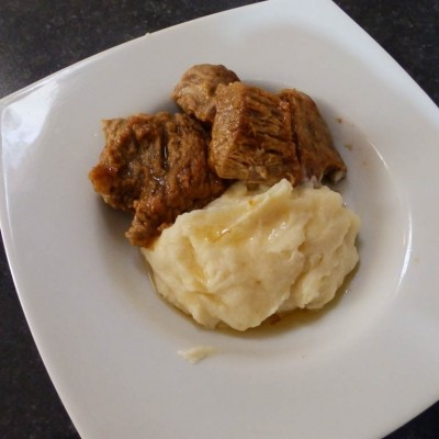 Μοσχάρι Λεμονάτο με πουρέ πατάτας 2