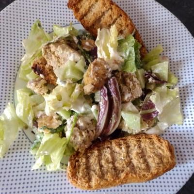 Σαλάτα με Μπιφτέκι κοτόπουλου 2